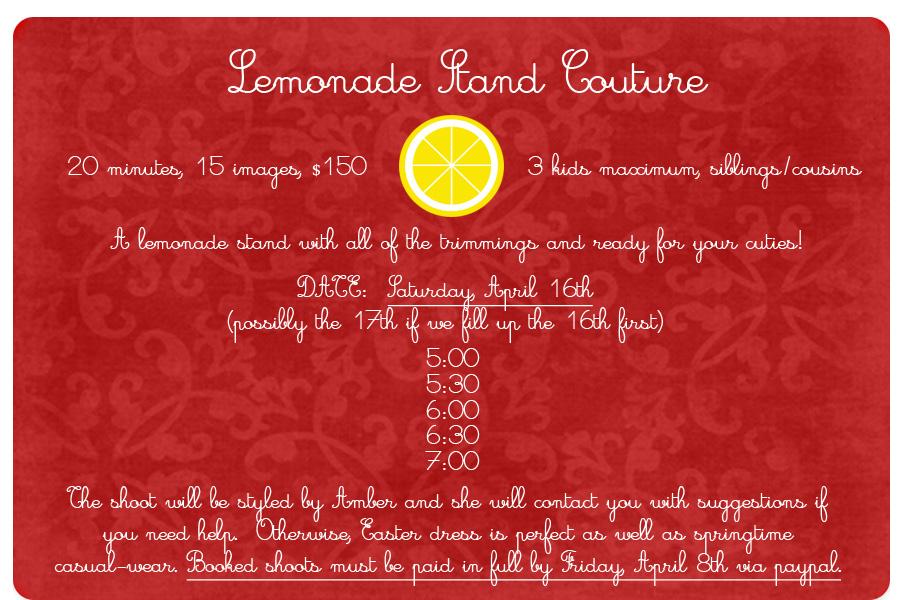 Lemonade Time Slots